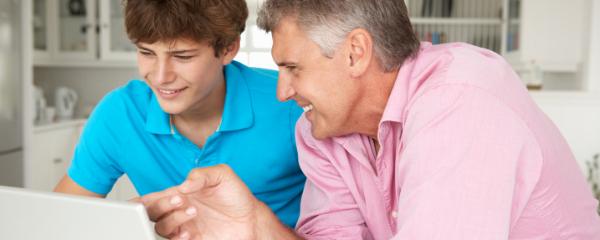 Parent Their Passion dad motivating son Header